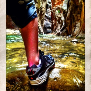 Columbia Sportswear trekking through The Zion Narrows