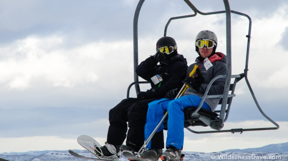 Jon Bausman & I on the ski lift Photo cred David Creech